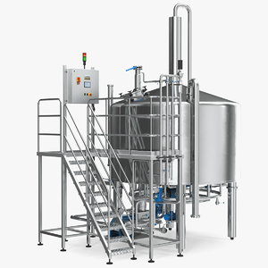 whiskey production plant 3D model