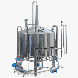 3D whisky distillation equipment model