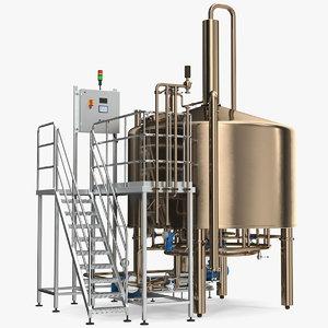 alcohol production plant 3D model
