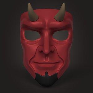 3D devil mask model