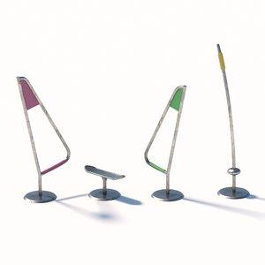 windsurfing toys 3D model