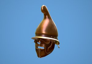 greek thracian hoplite helmet 3D model