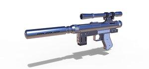 3D pistol blaster model