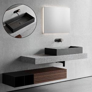topline vanity unit 3D model