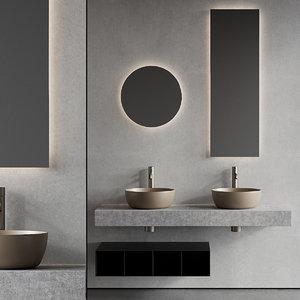 3D topline vanity unit