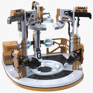 3D sci fi teleportation device