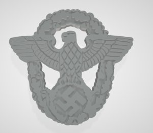 ww2 german police cap 3D model