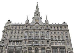 3D palace gate facade