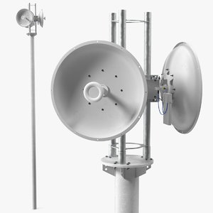 directional 5ghz dish antenna 3D model