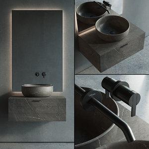 grate vanity unit washbasin 3D model