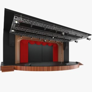 3D model real theater stage
