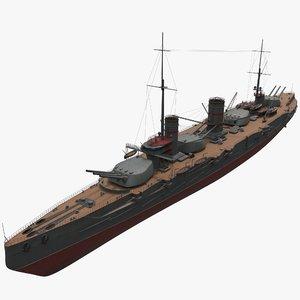 sevastopol battleship ussr 3D model