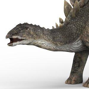 3D stegosaurus dinosaur pbr
