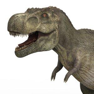 3D tyrannosaurus dinosaur