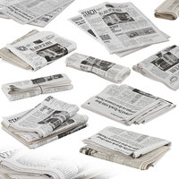 folded newspapers stack collection