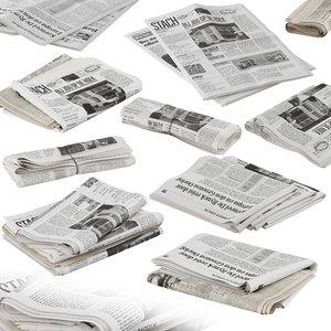 folded stack newspaper model