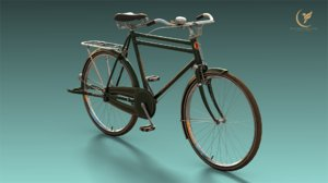 low-poly bicycle 3D model