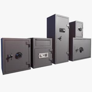 3D lockers locks model