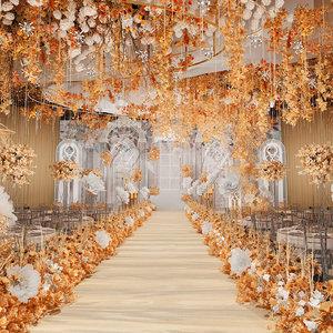 3D ballroom banquet hall