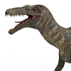 3D baryonyx dinosaur pbr