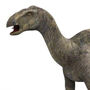 3D iguanodon dinosaur pbr model