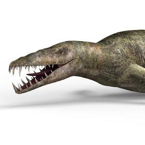 3D liopleurodon dinosaur pbr
