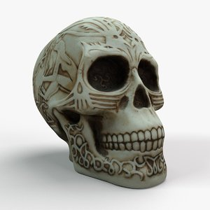 fantasy skull 3D