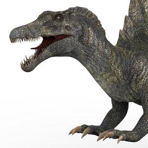 spinosaurus dinosaur 3D model