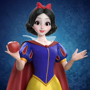 3D princess snow white model