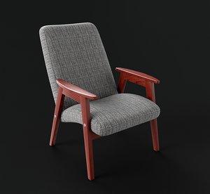 3D vintage armchair model