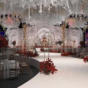 ballroom banquet hall 3D model