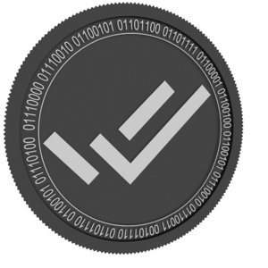 verify cred black coin 3D model