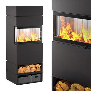 dexters3 fireplace 3D model