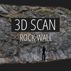 scan rock wall 3D model