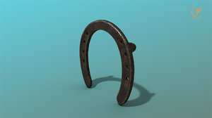 3D low-poly horseshoe model