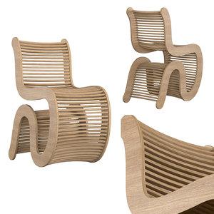 3D model spline chair
