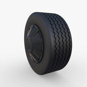 tesla truck wheel 3D model