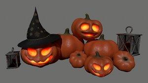candle halloween set model