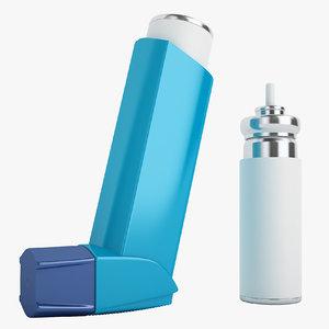 3D asthma inhalers model