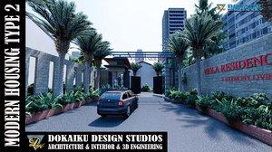 housing type 3D model