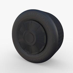 tesla truck wheel 2 3D