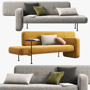bolia pebble sofas pillows 3D