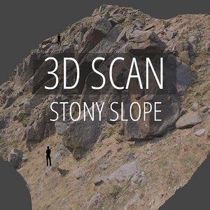 3D scan stony slope