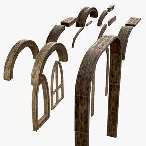 asset planks 3D model