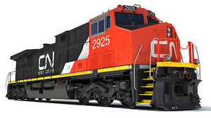 locomotive canadian national railway 3D