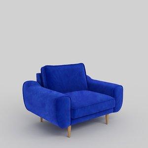 3D klem armchair normod 640mm model