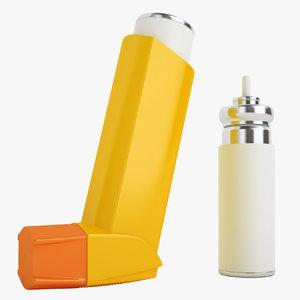 3D model asthma inhalers