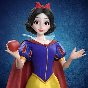 princess snow white 3D model