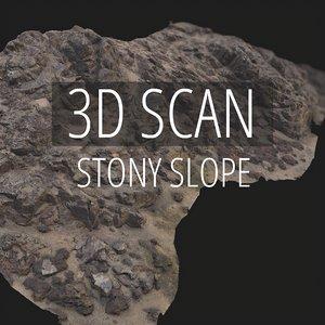 scan stony slope 3D