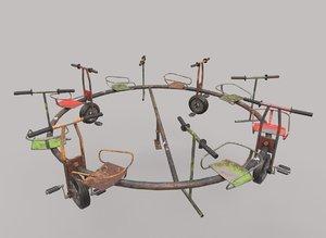 bicycle merry-go-round 3D model